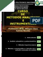 Metodos Analíticos e Instrumentales