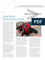 Accenture Ducati Dealer Communication System
