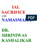 Animal Sacrifice and Namasmaran Dr. Shriniwas Kashalikar