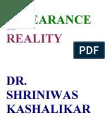 Appearance and Reality Dr. Shriniwas Kashalikar