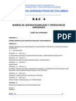 RAC 4 - Normas de Aeronavegabilidad y Operación de Aeronaves