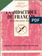 Halté Triangle Didactique 1992