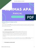 Normas APA Para Trabajos Escritos y Documentos