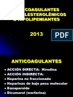 ANTICOAGULANTES 2013
