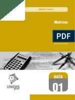 Matrizes Algebra Linear i Aula 01 559 Matrizes