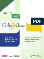 Parte Escrita Celpebras 2015 II Caderno de Questoes