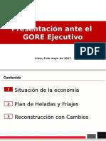 Acciones anunciadas para la Reconstrucción con Cambios