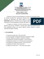 Edital Monitoria Ccbs 2017.1