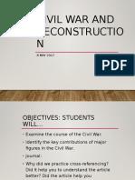 Civil War and Reconstruction 1