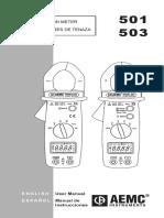 Amperimetro Aemc 501 Al503_en_es