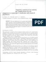 Computer-Assisted Linguistic Analysis of an Autistic Adolescent's Language