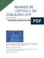 Estándares de Fibra Óptica y de Cableado Utp