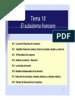 Tema 10- El Subsistema Financiero (1)