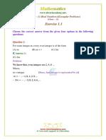 10 Maths Ncert Exemplar Exercise 1 1 Question 1