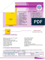 Pronomes Indefinidos e Demonstrativos