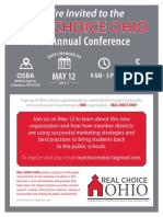 Real Choice Ohio Conference Agenda May 12, 2017