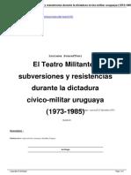 [Artigo] O Teatro Militante No Uruguay