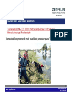 JMBZ-QPR-0360R0 - Treinamento ISO -Política - Indicadores- Produtividade-jan -2014 ZEPPELIN SYSTEMS treinamento