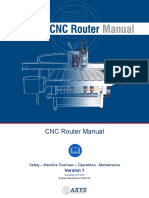 Axyz Cnc Router Manual v1 | Numerical Control | Personal Protective