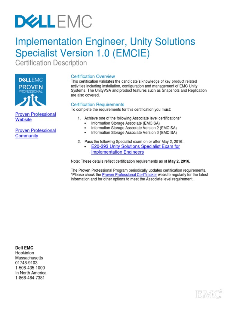 E20 393 Unity Solutions Specialist Exam For Implementation Engineers