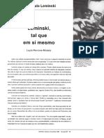 Artigo sobre Paulo Leminski