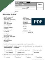 Ficha de Avaliação Trimestral - 1º Período - 3º Ano PORT_I (1)