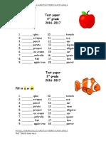 test paper a - an.doc
