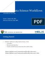 Creating Data Science Workflows - A Healthcare Use Case