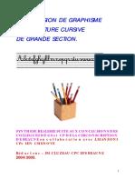GRAPHISME-Progression Graphisme Et Ecriture GS-2005-Ac. Dijon