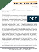 Discurso del Movimiento al Socialismo en la comisión Constituyente