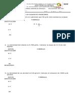 Examen Del Primer Bimestre de Ciencias III Ciclo 2016-2017