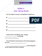 Video 2 Note Taking Guide