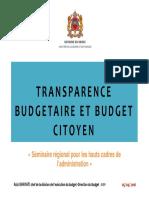 Transparence Budgtéaire Ogp 2016
