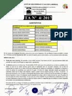 Acta 4/2017 Comité de Seguridad y Salud Laboral Tragsa UT 2 CV
