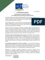communique-resultats Stress Test Français