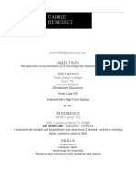 carrie benedict resume