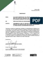 Memorando No.002 del 14-01-2016 Lineamientos reporte de información proceso BD