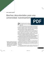Brechas Descoloniales Para Una Universidad Nuestroamericana, Rita Segato
