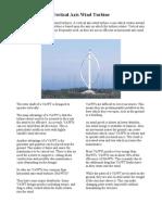 Vertical Axis Wind Turbine
