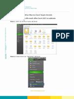 Manual Habilitar Macros Excel Según Versión F