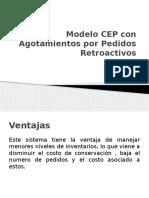 Modelo CEP Con Agotamientos Por Pedidos Retroactivos