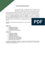 Acta de Entrega de Materiales..