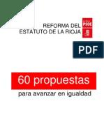 Reforma del Estatuto de Autnomía de La Rioja. 60 propuestas para avanzar en la igualdad