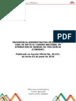 Providencia Administrativa Numero 012 Cunabaf 2016