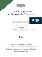 CG Et Performance Des Universités