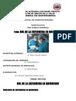 Rol de La Enfermera en Quirofano