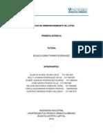 Tecnicas de Dimencionamiento de Lotes - Proyecto Produccion 1ra Entrega