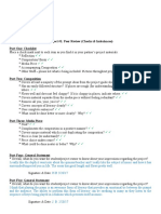 project one peer review check list