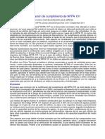 Nota Certificacion NFPA 101