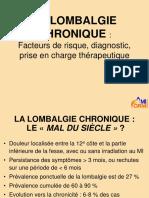 La Lombalgie Chronique